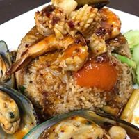 Tom Yum Fried Rice Seafood