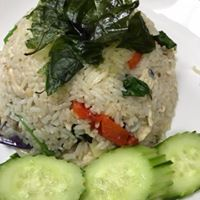 Green Curry Fried Rice ** - fried rice